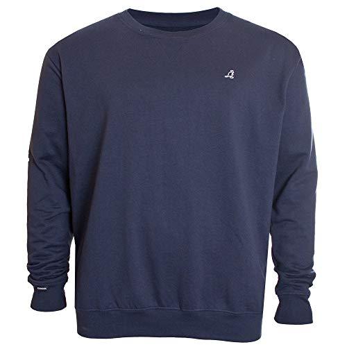 Kangol Foray Homme Sweatshirt Manches Longues col Rond Arrêtez-Vous - Bleu Marine - 5XL
