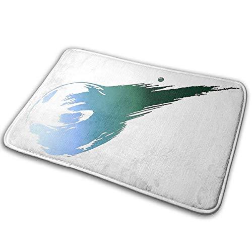 Final Fantasy 7 Logo - Alfombra de entrada para exterior y interior lavable, alfombra antideslizante para suelo de baño