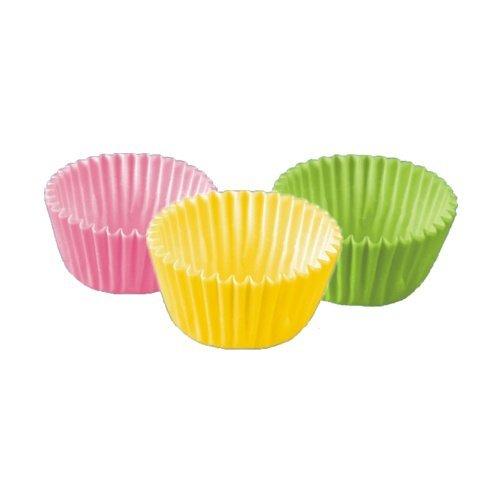 300 Stück Mini - Backförmchen / Pralinenförmchen (farbig sortiert / 24 x 16 mm)