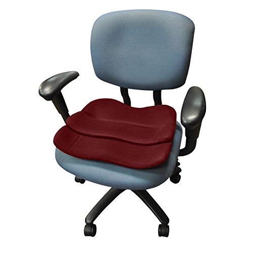 ObusForme Contoured Seat Cushion Burgundy (bagged)