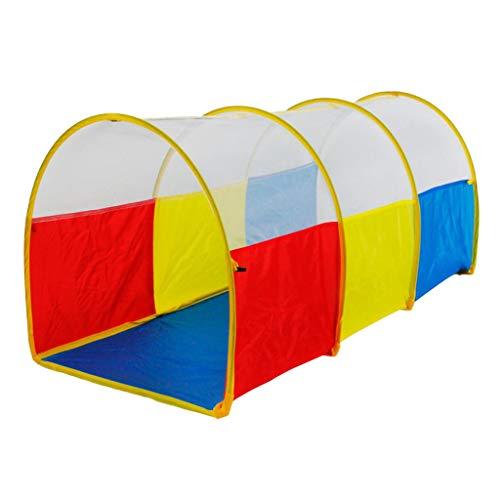 MagiDeal Faltbar Spielzelt Kinderzelt Spielhaus Tunnel Kriechtunnel Kinder Indoor Outdoor Spielzeug, Gleb + Blau + Rot