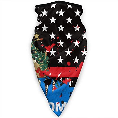 Mathillda Oklahoma sjaal, smalle rode lijn, Amerikaanse vlag, gezichtsmasker, gamassen, halsdoek, bivakmuts, multifunctioneel
