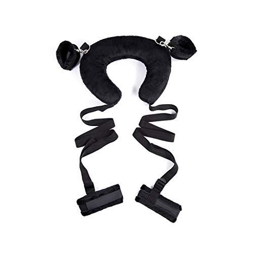 LJZozzcr Restraint Kit Handschellen und Ankle Straps Verstellbarer weich und bequem for Paare, Männer Frauen Sunglasses (Color : Black)