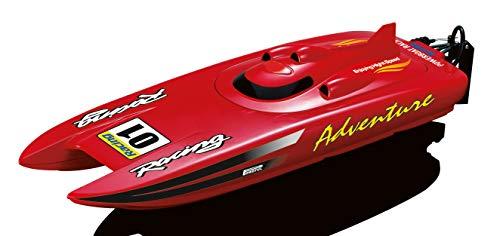 Amewi 26070 RC Motorboot RTR 450 mm Rennkatamaran Adventure rot 2,4 GHz 30km/h