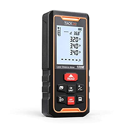TACKLIFE S2-100 Premium Laser Measure 328Ft with Built-in Electronic Angular Sen