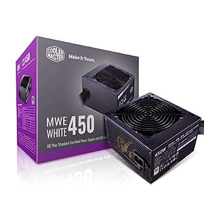Cooler Master MWE 650 White 650W 80+ White PSU w/ Hydro-Dynamic-Bearing Silent 120mm Fan, Single +12V Rail, Flat Black Cables