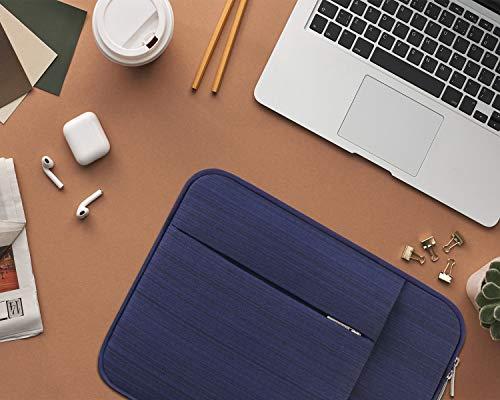 "Lacdo 11 Pulgadas Funda Protectora para Portátiles para 11.6"" Acer ASUS HP Samsung DELL Chromebook, 12.3"" Surface Pro 7, 11"" Lenovo IdeaPad 3 Chromebook, 11.6"" MacBook Air Bolsa Funda Blanda, Azul 6"
