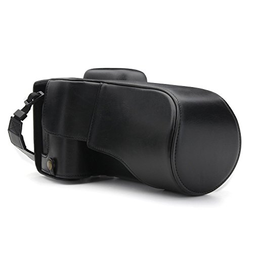 MegaGear MG1226 - Funda de protección con Correa para cámara de Fotos Canon EOS Rebel T7i/800D/Kiss X9i/77D/9000D (18-135 mm), Color Negro