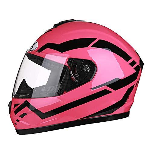 Elektrischer Motorradhelm Vollhelmabdeckung Lokhelm Helm Horn Mountainbike Reithelm-Pulver (transparent) _2XL