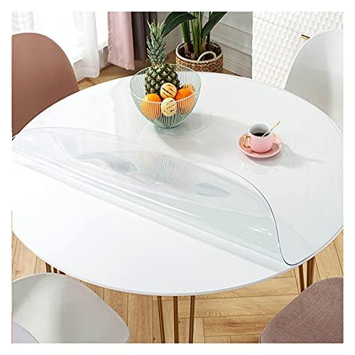 Redonda Cristal Mantel Transparente,Impermeable Mantel,Suave Vinilo PVC Protector para Mesa,Antiincrustante,prueba aceite y fácil de limpiar, se puede personalizar,1.5mm thick,Dia.135cm/53.1in