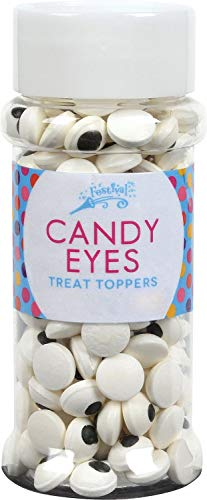 Candy Eye Toppers - Edible Baking Decorations - Funny Googly Eyes for Cupcakes, Cakes, Cookies, Brownies - Halloween, Easter, and Edible Art Project Candy (2.9oz Candy Eye Toppers, 2pk)