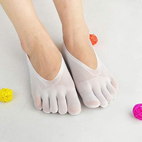 Sbay Calcetines de compresión ortopédicos para mujer, con forro ultrabajo y pestaña de gel transpirable