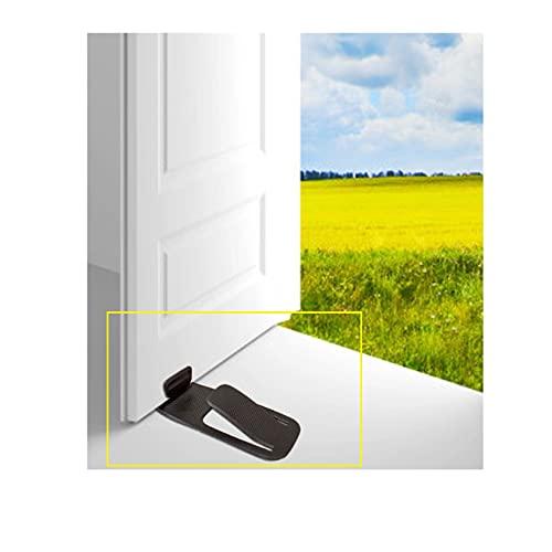 Tope de puerta para suelo Heavy Door Stop para apilar puertas de múltiples superficies, cuña de hierro para puerta
