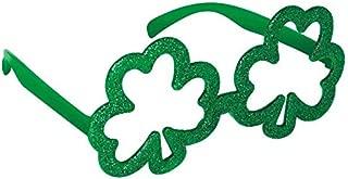 Amscan St. Patrick's Day Shamrock Green Glitter Eyeglasses | Party Accessory