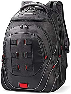 "Samsonite 86352 LEVIATHAN Laptop Backpack 17.3"", Black/red, 50 Centimeters"