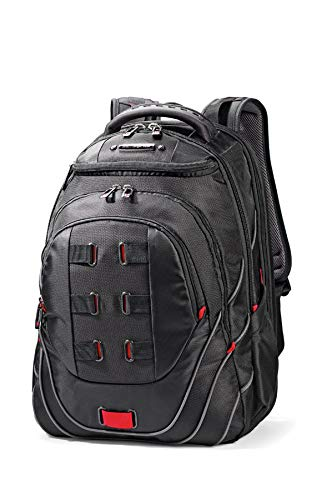 "SAMSONITE Laptop Backpack 17.3"" (Black/Red) -Leviathan  Mochila Tipo Casual, 53 cm, Negro"