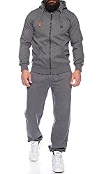 Finchman Finchsuit 1 Herren Jogging Anzug Trainingsanzug Sportanzug FMJS135, Darkgray, XXL