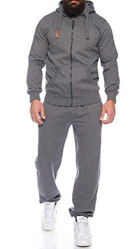 Finchman Finchsuit 1 Herren Jogging Anzug Trainingsanzug Sportanzug FMJS135, Darkgray, 4XL