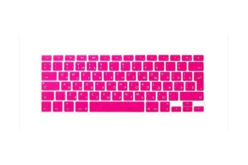 Russian Silicone Euro Eu Keyboard Silicone Keyboard Cover For Macbook Air Pro Retina 13 15 17 For Mac Book Laptop Skin-Rose