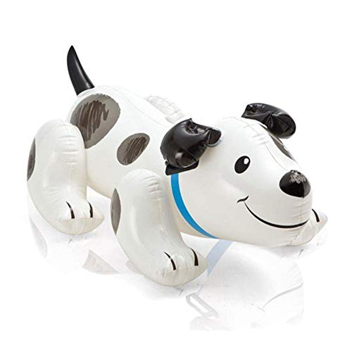 N / A Cama Flotante para Perros de Juguete Inflable Exteriores, respetuosos con el Medio Ambiente, Anillo de natación para niños con Asiento en Forma de Dibujos Animados