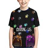 XCNGG Niños Tops Camisetas Funny Among Us Shirt Impostor Game T Shirts for Teen Boys