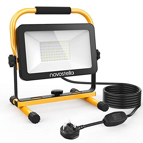 Novostella 60W 6000lm LED Work Light, 5m Wire with Plug,...