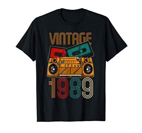 31 Cumpleaños Hombre Mujer 31 Años Vintage 1989 Camiseta