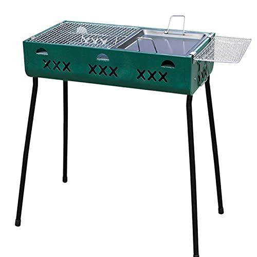 FEANG Grill Doppelzweck BBQ Barbecue Grill Tragbare Holzkohle Outdoor Burner Faltbare Holzkohle Raucher BBQ für Picknickgarten Grillwerkzeug