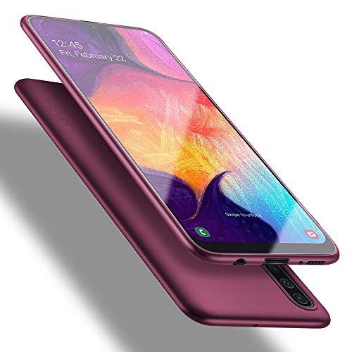 X-level Funda Samsung Galaxy A50/A30s/A50s, Carcasa para Samsung Galaxy A50 Suave TPU Gel Silicona Ultra Fina Anti-Arañazos y Protección a Bordes Funda Case para Samsung Galaxy A50 - Vino Rojo
