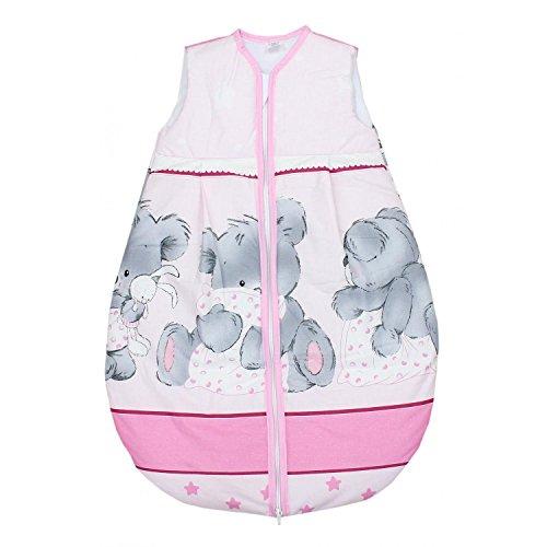 TupTam Baby Unisex Schlafsack Ärmellos Wattiert, Farbe: Imagine Beige, Größe: 62-74