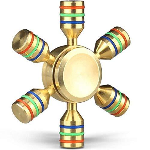 1pc 6 Flügel Abnehmbare Hand Spinner Hilfe Fokus Und Reduzieren Sie Stress Spins Hand Finger Fidget Spielzeug Gold-glatt
