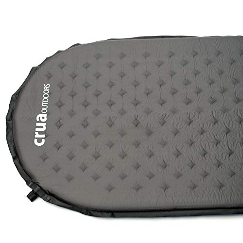 Crua Self Inflating Mattress sleeping mat can be set up in a matter of minutes- fishing, hiking, tents, camping, mountaineering, hunting all weather