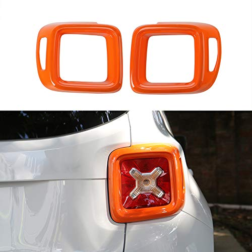 JUNLELI Car Exterior Taillight Cover Guard for Jeep Renegade 2016 2017 2018 2019 2020 2021 Tail Light Decorative Sticker Trim Lamp Hoods Accessories