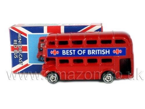 Londres Souvenir Mini métal coulé Figurine-Londres-Rouge Double Decker Bus