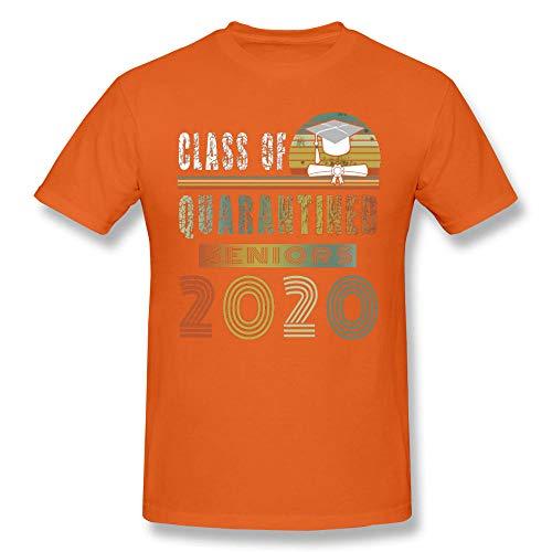 Summer T Shirt Senior Class of 2020 Quarantined T-Shirt Shirt Basic Short Sleeve-Orange_XXXL