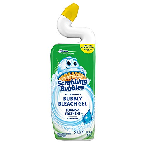 Scrubbing Bubbles Bubbly Bleach Gel Toilet Bowl Cleaner, Rainshower, 24 oz