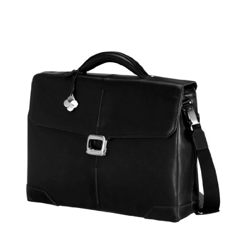 Samsonite 51032 - Valigetta S-oulite Lth Briefcase 3 Gussets da 15,6', 18 litri, colore: Nero