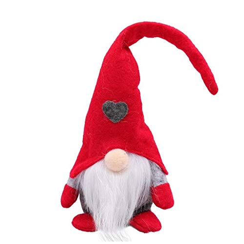 Shan-S Wedish Christmas Santa Gnome Plush Doll,Scandinavian Tomte Stuffed Handmade Swedish,Christmas Figurines Santa,Home Household Ornaments,Gifts for Holiday Decorations
