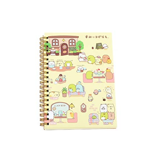 Cuadernos de diario en blanco de papel rayado plan Cute Lazy Corner Easy Bear Notebook Notebook Notebook Notebook Bloc de notas portátil Papelería Oficina Material escolar Paquete de trabajo escolar D