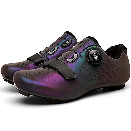YQSHOES Calzado Ciclismo para Hombre Calzado Bicicleta Carretera Calzado Montaña con Tacos SPD Delta para Interior/Exterior,Vistoso,42EU/8.5UK/9US