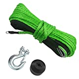 """TYT 3/16"""" x 50ft Synthetic Winch Rope, 7700lb..."""