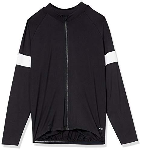 Amazon Essentials Men's Standard Long-Sleeve Cycling Jersey, Black, XX-Large