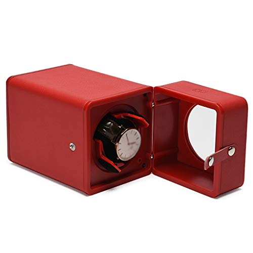 Xinxinchaoshi Ecrins pour Montres La boîte de Montre portative a enroulé complètement Automatique la Table rotatoire de boîte de Rangement de Montre de Montre Rouge Coffret de Bijoux