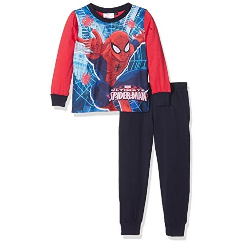 Spiderman Team Pigiama, Blu (Navy), 3-4 Anni Bambino