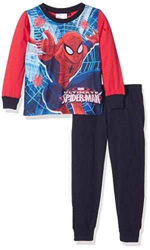 Spiderman Team Conjuntos de Pijama, Azul (Navy), 3-4 Años para Niños