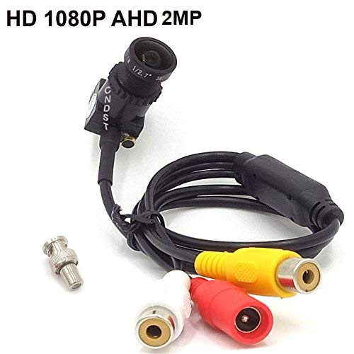 CNDST CCTV 1080P 2MP HD AHD Mini Spy Pinhole Security Camera for CCTV AHD 1080P DVR System, Mini Hidden Spy Camera Starlight, Wide View Angle f2.8mm Lens 140 Degree DC 12V 1A
