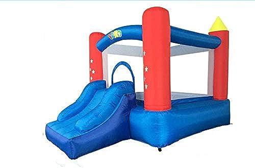 YAzNdom Trampoline intérieur Gonflable Oxford en Toile Gonflable Aire de Jeux pour Enfants Jeux pour Enfants Vilain chateau Toboggan