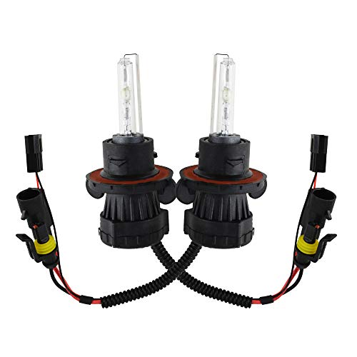 Innovited 55W HID Xenon Bi-xenon Hi/Lo Dual Beam Replacement Bulbs - H13 9008-6000K
