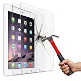 Screen Protector for iPad 2 3 4 (Oldest Models), Jusney Tempered Glass Film Compatible for Apple iPad2 / iPad3 / iPad4 (NOT for iPad Air/iPad 5) [2 Pack]