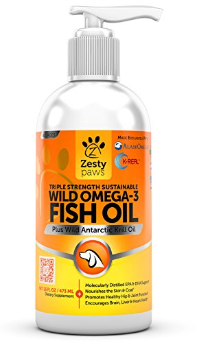 Zesty Paws, Wild Alaskan Salmon Oil, For Dogs & Cats, Skin & Coat, All Ages, 473ml